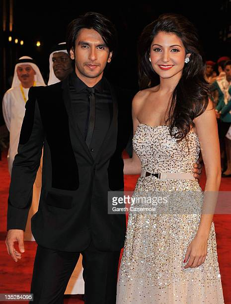 Actors Ranveer Singh and Anushka Sharma attend the 'Ladies vs Ricky Bahl' premiere during day two of the 8th Annual Dubai International Film Festival...