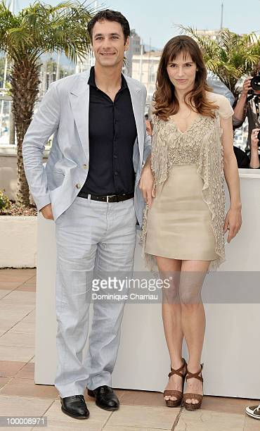 Actors Raoul Bova and Stefania Montorsi attend the 'Our Life' Photo Call held at the Palais des Festivals during the 63rd Annual International Cannes...