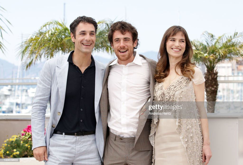 Actors Raoul Bova, Elio Germano and Stefania Montorsi attend the 'Our Life' Photocall at the Palais des Festivals during the 63rd Annual Cannes Film Festival on May 20, 2010 in Cannes, France.