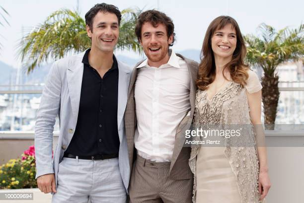 Actors Raoul Bova Elio Germano and Stefania Montorsi attend the 'Our Life' Photocall at the Palais des Festivals during the 63rd Annual Cannes Film...