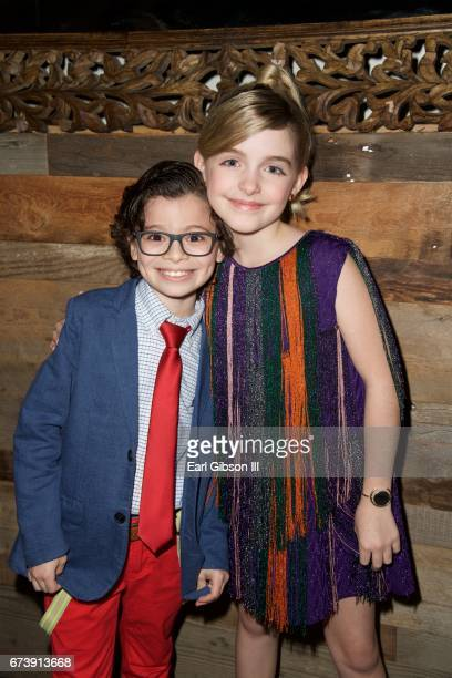 Actors Raphael Alejandro and McKenna Grace attend the Premiere Of Pantelion Films 'How To Be A Latin Lover' After Party on April 26 2017 in Hollywood...