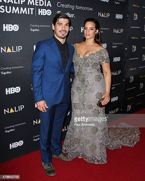 Actors Raul Castillo and Dascha Polanco attend the NALIP 16th annual Latino Media Awards at The W Hollywood on June 27 2015 in Hollywood California