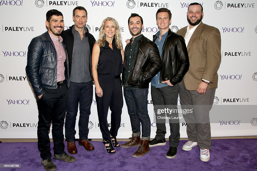 Actors Raul Castillo Murray Bartlett Lauren Weedman Frankie J Alvarez Jonathan Groff and Daniel Franzese attend an evening with HBO's 'Looking' at...