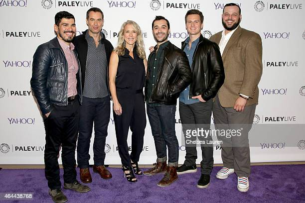 Actors Raul Castillo Murray Bartlett Lauren Weedman Frankie J Alvarez Jonathan Groff and Daniel Franzese attend an evening with HBO's 'Looking' at...