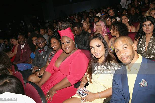 Actors Raven Goodwin and Aaron D Spears attend the 2016 BET Awards at the Microsoft Theater on June 26 2016 in Los Angeles California