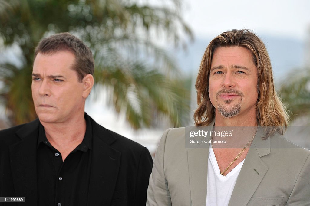 Actors Ray Liotta and Brad Pitt pose at the 'Killing Them Softly' photocall during the 65th Annual Cannes Film Festival at Palais des Festivals on May 22, 2012 in Cannes, France.