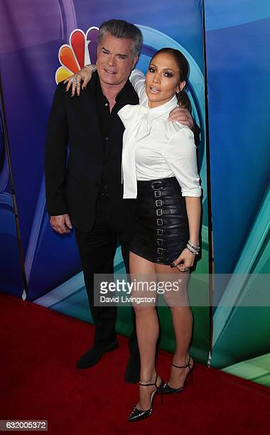 Actors Ray Liotta and Jennifer Lopez attend the 2017 NBCUniversal Winter Press Tour Day 2 at the Langham Hotel on January 18 2017 in Pasadena...