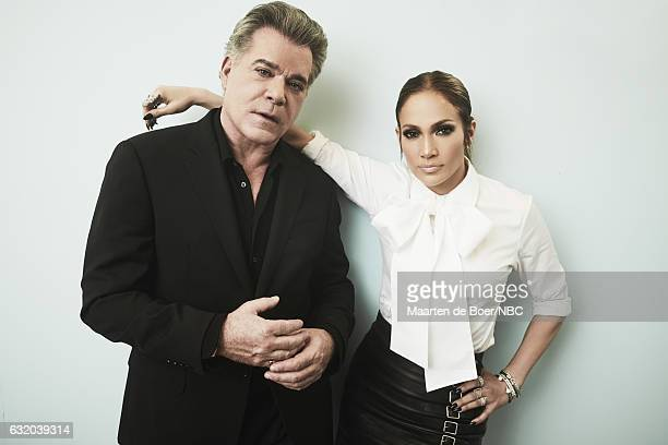 Actors Ray Liotta and Jennifer Lopez of 'Shades of Blue' pose for a portrait in the NBCUniversal Press Tour portrait studio at The Langham Huntington...