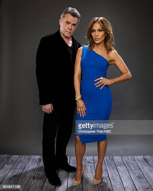 Actors Ray Liotta and Jennifer Lopez pose for a portrait during the NBCUniversal Press Day at The Langham Huntington Pasadena on January 13 2016 in...