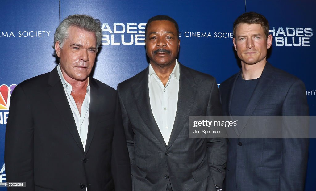 Actors Ray Liotta, Carl Weathers and Philip Winchester attend the season 2 premiere of 'Shades Of Blue' hosted by NBC and The Cinema Society at The Roxy on March 1, 2017 in New York City.