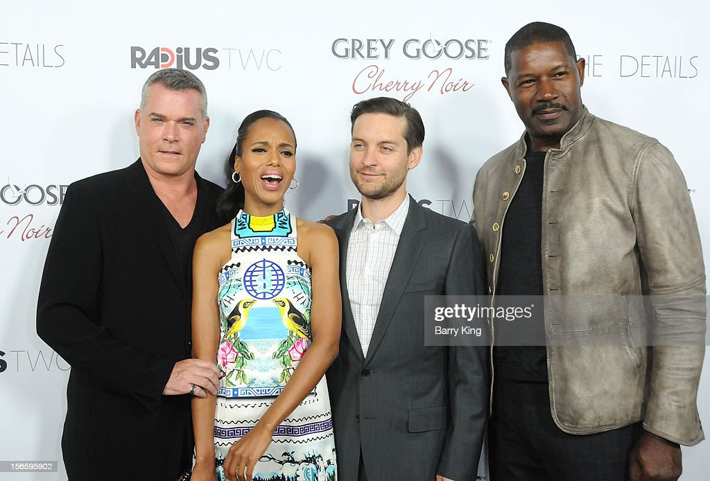 Actors Ray Liotta, Kerry Washington, Tobey Maguire and Dennis Haysbert attend the premiere of 'The Details' t ArcLight Cinemas on October 29, 2012 in Hollywood, California.