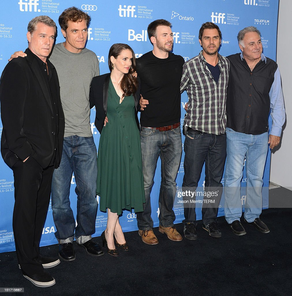 Actors Ray Liotta Michael Shannon Winona Ryder Chris Evans writer/director/producer Ariel Vromen and producer Ehud Bleiberg attend the 'Iceman' Photo...