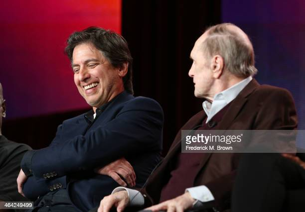 Actors Ray Romano and Bob Newhart speak onstage during the 'Pioneers of Television Season 4 'Acting Funny' 'Breaking Barriers' 'Doctors and Nurses'...