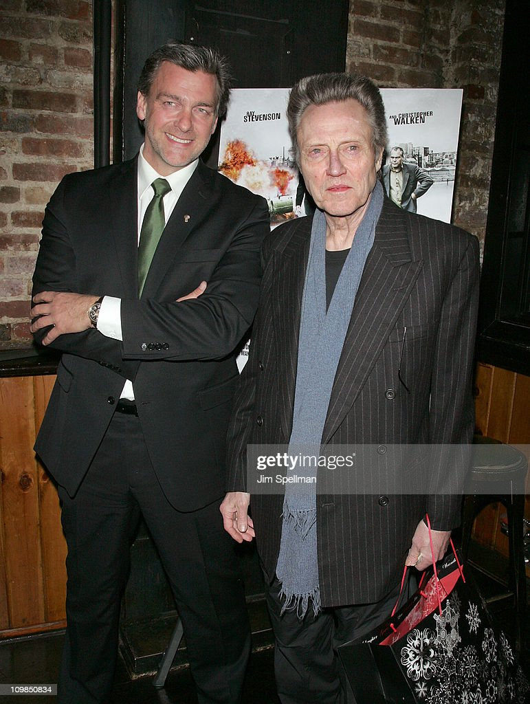Actors Ray Stevenson and Christopher Walken attend the 'Kill the Irishman' premiere after party at Puck Fair Bar on March 7 2011 in New York City