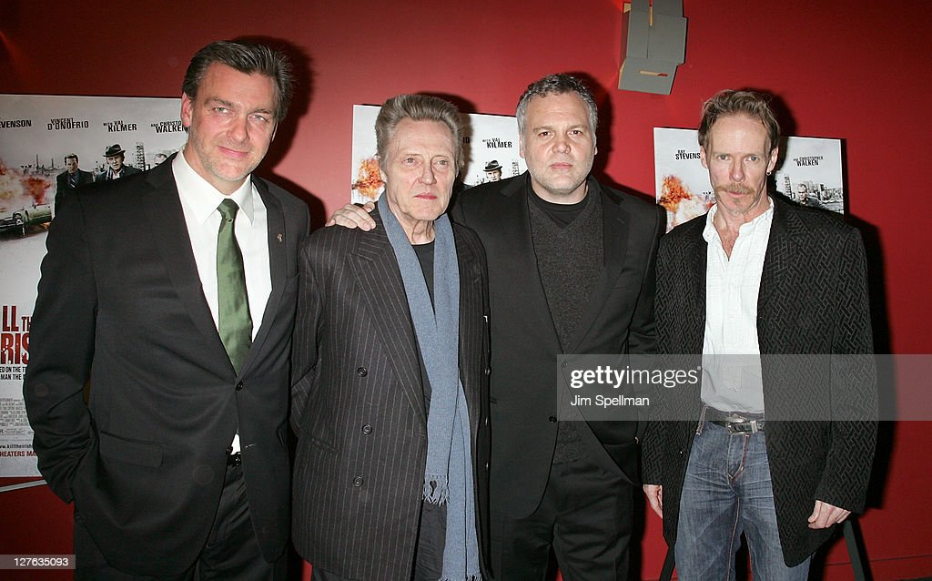 Actors Ray Stevenson Christopher Walken Vincent D'Onofrio and Director Jonathan Hensleigh attend the premiere of 'Kill the Irishman' at Landmark's...
