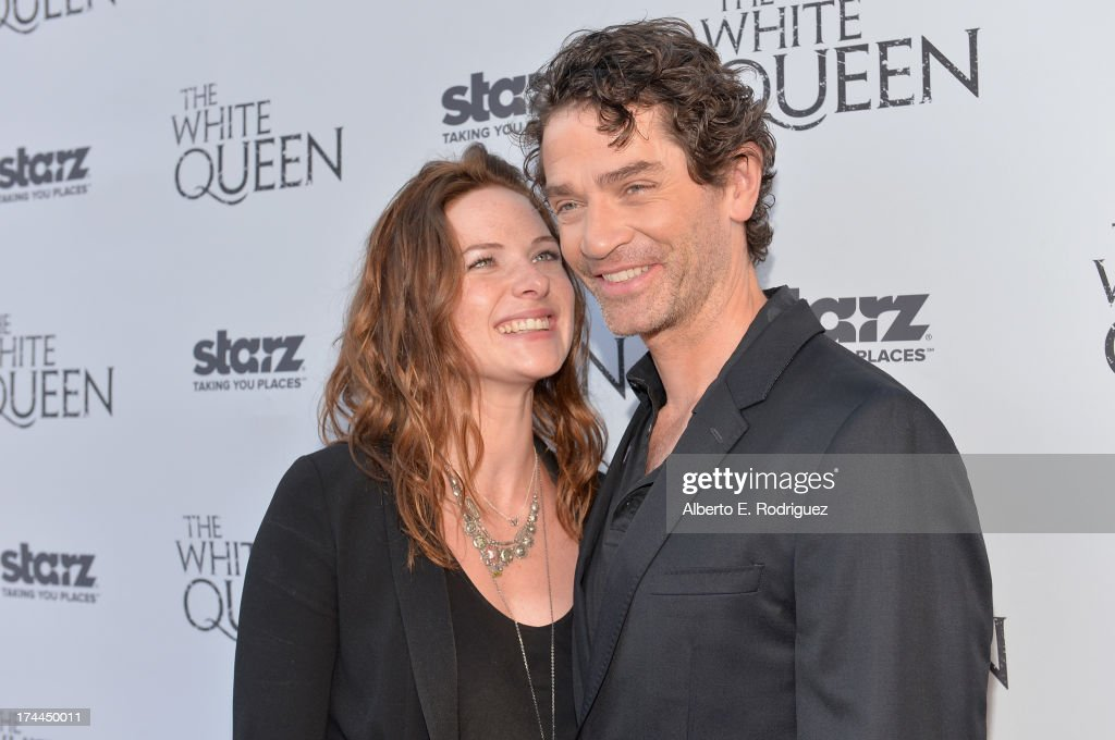 Actors Rebecca Ferguson and <a gi-track='captionPersonalityLinkClicked' href=/galleries/search?phrase=James+Frain&family=editorial&specificpeople=2240982 ng-click='$event.stopPropagation()'>James Frain</a> attend The Brittish Consulate'a toast of the U.S. launch of the Starz original series 'The White Queen' on July 25, 2013 in Los Angeles, California.
