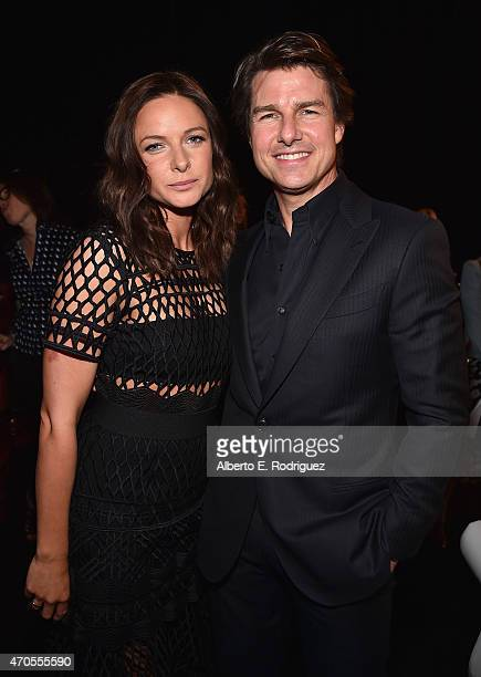 Actors Rebecca Ferguson and Tom Cruise attend The State of the Industry Past Present and Future and Paramount Pictures Presentation at The Colosseum...