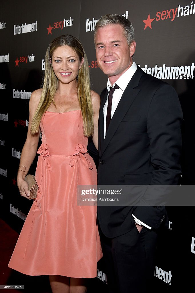 Actors Rebecca Gayheart (L) and Eric Dane attend Entertainment Weekly's celebration honoring the 2015 SAG awards nominees at Chateau Marmont on January 24, 2015 in Los Angeles, California.