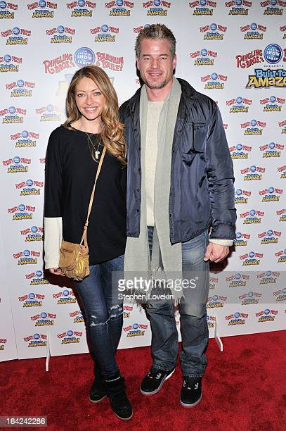 Actors Rebecca Gayheart and Eric Dane attend Ringling Bros And Barnum Bailey Present Built To Amaze on March 21 2013 in New York City