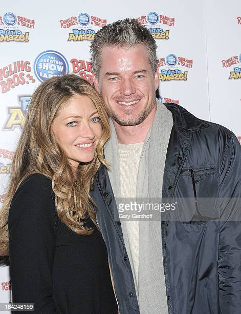 Actors Rebecca Gayheart and Eric Dane attend the Ringling Bros and Barnum Bailey 'Build To Amaze' Opening Night at Barclays Center on March 21 2013...