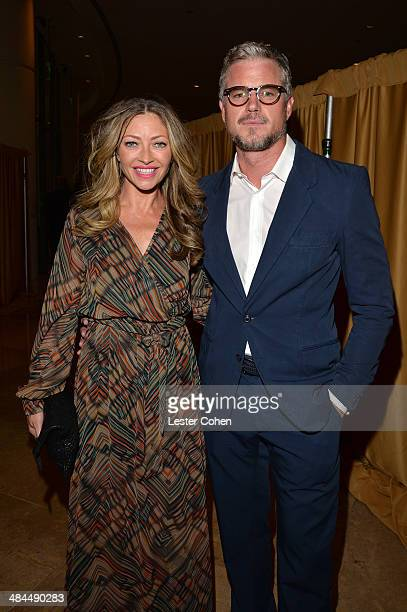 Actors Rebecca Gayheart and Eric Dane attends the 25th Annual GLAAD Media Awards at The Beverly Hilton Hotel on April 12 2014 in Los Angeles...