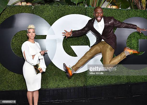 Actors Rebecca KingCrews and Terry Crews attend the GQ 20th Anniversary Men Of The Year Party at Chateau Marmont on December 3 2015 in Los Angeles...
