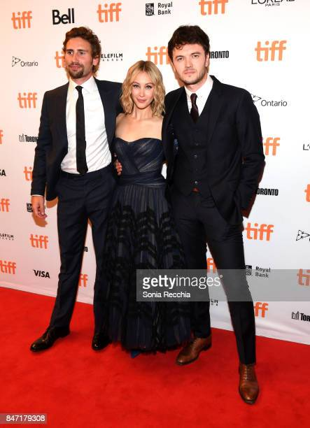 Actors Rebecca Liddiard Edward Holcroft Sarah Gadon and Kerr Logan attend The World Premiere of the Limited Series 'Alias Grace' starring Sarah Gadon...