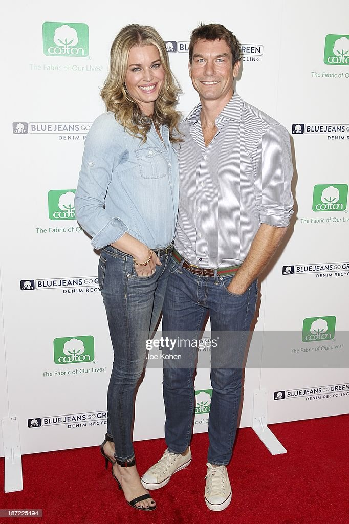 Actors <a gi-track='captionPersonalityLinkClicked' href=/galleries/search?phrase=Rebecca+Romijn&family=editorial&specificpeople=202241 ng-click='$event.stopPropagation()'>Rebecca Romijn</a> and <a gi-track='captionPersonalityLinkClicked' href=/galleries/search?phrase=Jerry+O%27Connell&family=editorial&specificpeople=208243 ng-click='$event.stopPropagation()'>Jerry O'Connell</a> attend Blue Jeans go green celebrates 1 Million pieces of denim collected for recycling hosted by Miles Teller at SkyBar at the Mondrian Los Angeles on November 6, 2013 in West Hollywood, California.