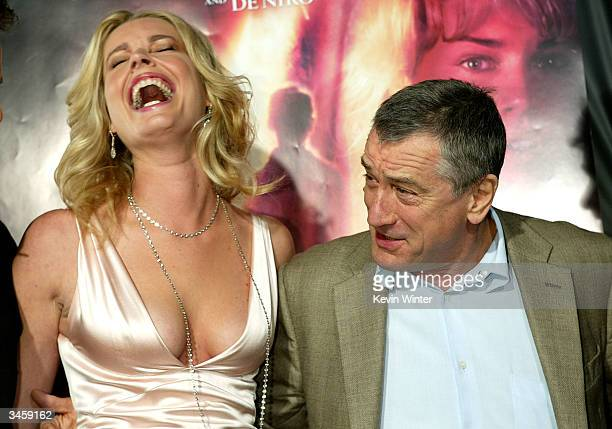 Actors Rebecca RomijnStamos and Robert De Niro attend the world premiere of the Lion's Gate film 'Godsend' at the Mann's Chinese Theatre April 22...