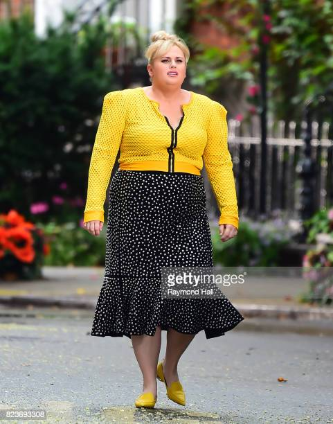 Actors Rebel Wilson is seen on the set of 'Isn't It Romantic' on July 27 2017 in New York City