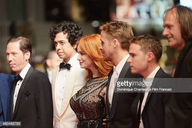 Actors Reda Kateb Geoffrey Arend Christina Hendricks Ryan Gosling and Iain De Caestecker attend the 'Lost River' Premiere during the 67th Annual...
