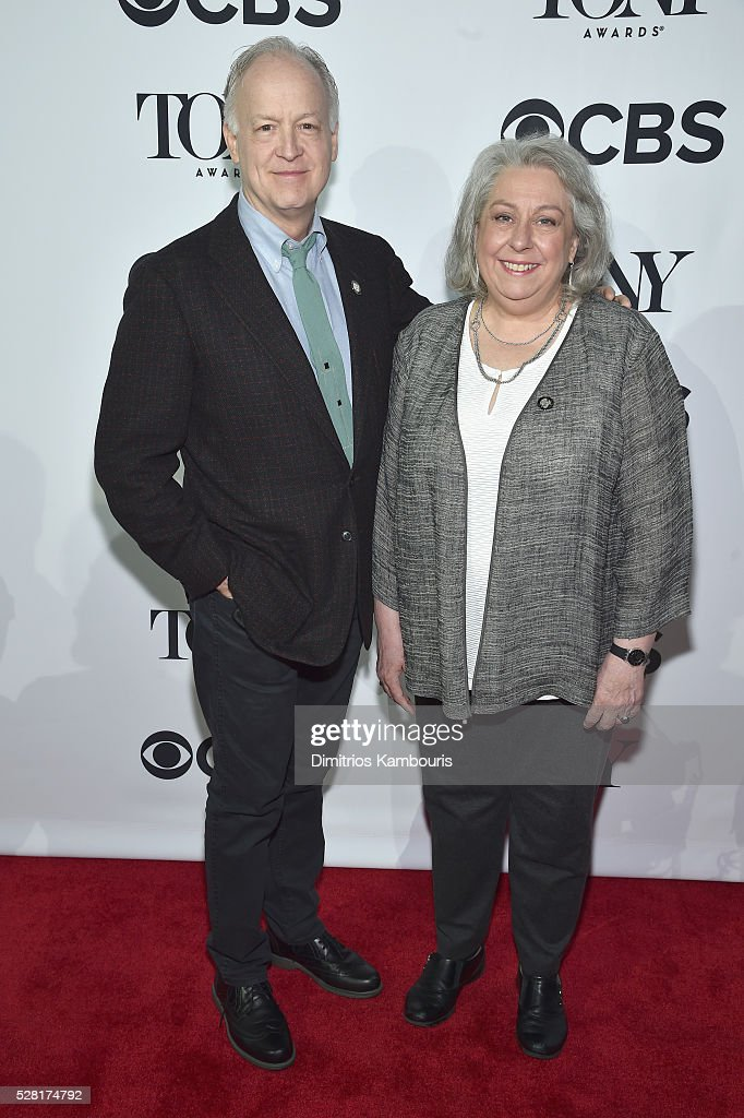 Actors <a gi-track='captionPersonalityLinkClicked' href=/galleries/search?phrase=Reed+Birney&family=editorial&specificpeople=5840821 ng-click='$event.stopPropagation()'>Reed Birney</a> (L) and Jayne Houdyshell attend the 2016 Tony Awards Meet The Nominees Press Reception on May 4, 2016 in New York City.