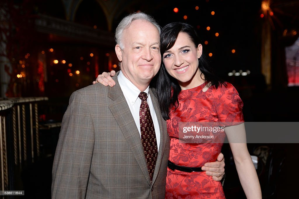 Actors Reed Birney (L) and Lena Hall attend the Tony Honors Cocktail Party presenting the 2016 Tony Honors For Excellence In The Theatre and honoring the 2016 Special Award recipients at Diamond Horseshoe on June 6, 2016 in New York City.