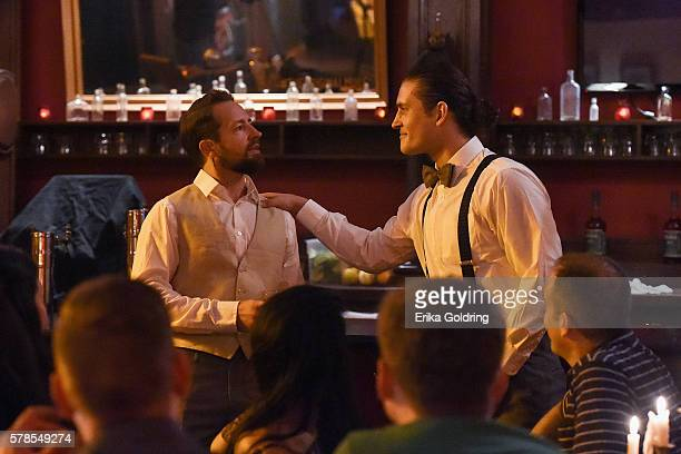 Actors reenact the story of how the original Moscow Mule was invented with SMIRNOFF vodka and Cockn Bull® Ginger Beer in 1941 during Tales of the...