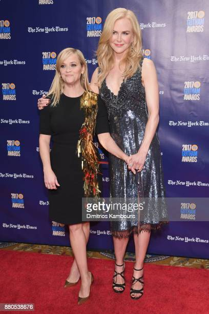 Actors Reese Witherspoon and Nicole Kidman attend IFP's 27th Annual Gotham Independent Film Awards on November 27 2017 in New York City