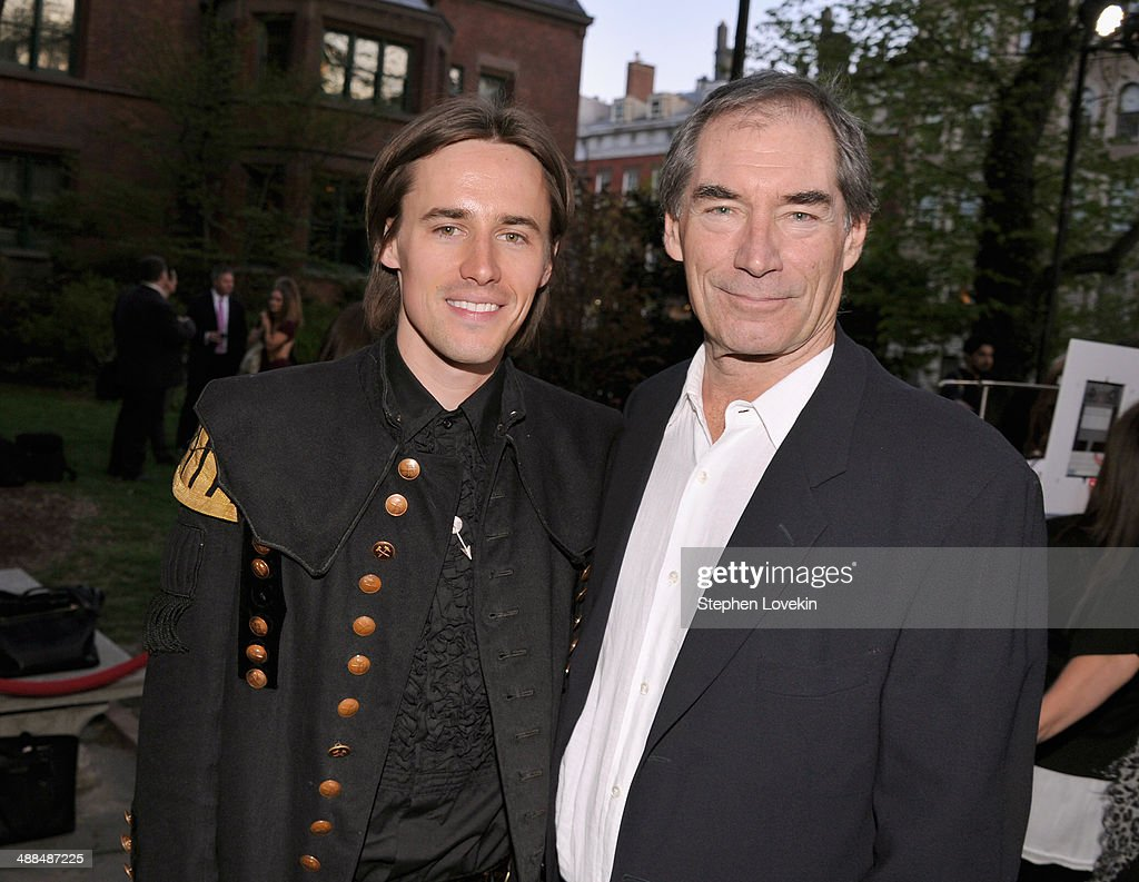 Actors <a gi-track='captionPersonalityLinkClicked' href=/galleries/search?phrase=Reeve+Carney&family=editorial&specificpeople=5312264 ng-click='$event.stopPropagation()'>Reeve Carney</a> and <a gi-track='captionPersonalityLinkClicked' href=/galleries/search?phrase=Timothy+Dalton&family=editorial&specificpeople=655259 ng-click='$event.stopPropagation()'>Timothy Dalton</a> arrive at Showtime's 'PENNY DREADFUL' world premiere at The High Line Hotel on May 6, 2014 in New York City.