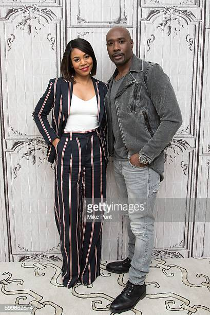 Actors Regina Hall and Morris Chestnut attend the AOL Build Speaker Series to discuss the new film 'When the Bough Breaks' at AOL HQ on September 6...