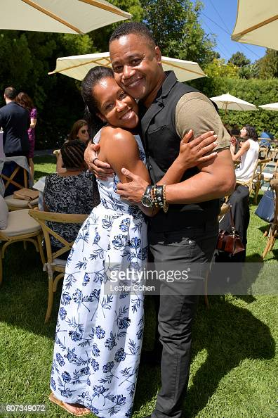 Actors Regina King and Cuba Gooding Jr at the ICM Partners PreEmmy Brunch on September 17 2016 in Santa Monica California