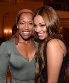 Actors Regina King and Lauren London attend the BET Networks' 2013 Los Angeles Upfront at Montage Beverly Hills on April 2 2013 in Beverly Hills...