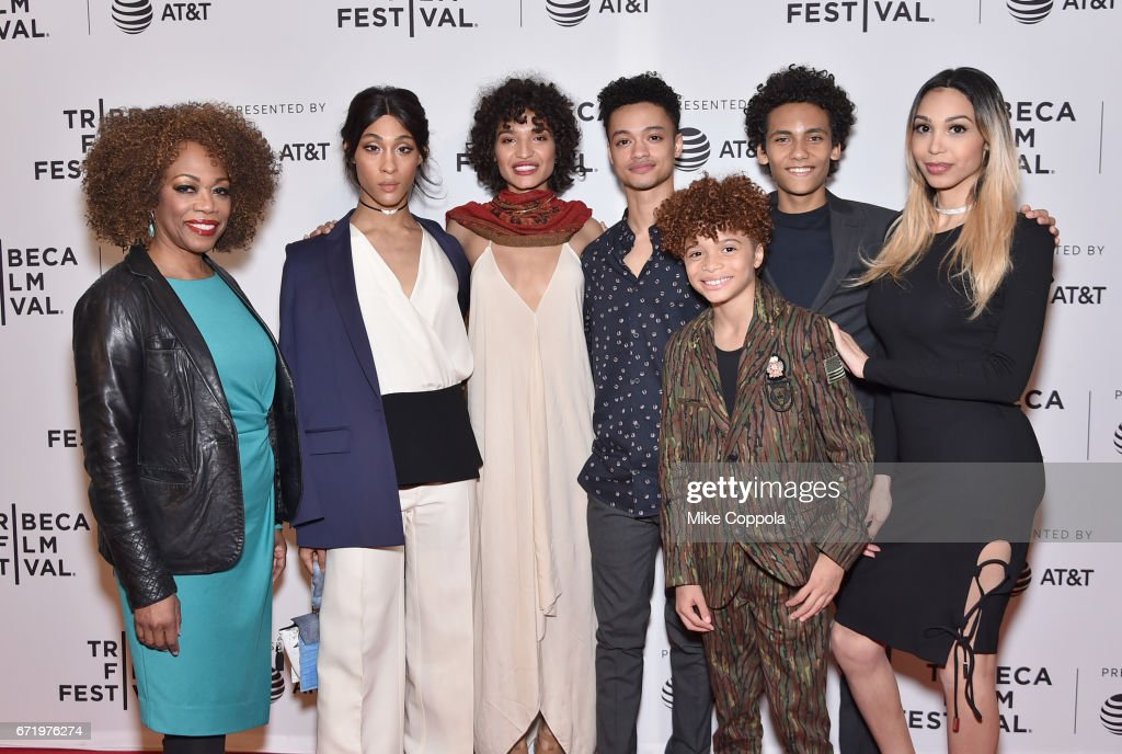 Actors Regina Taylor, MJ Rodriguez, Indya Moore, Marquis Rodriguez, Jaylin Fletcher, Luka Kain, and Alexia Garcia attend the 'Saturday Church' Premiere during the 2017 Tribeca Film Festival at Cinepolis Chelsea on April 23, 2017 in New York City.