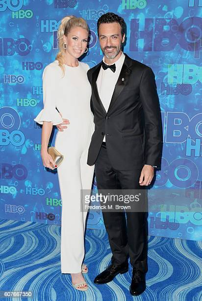Actors Reid Scott and Elspeth Keller attend HBO's Official 2016 Emmy After Party at The Plaza at the Pacific Design Center on September 18 2016 in...