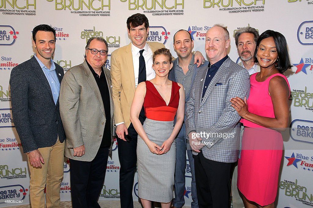 Actors Reid Scott, Kevin Dunn, <a gi-track='captionPersonalityLinkClicked' href=/galleries/search?phrase=Timothy+Simons&family=editorial&specificpeople=9125992 ng-click='$event.stopPropagation()'>Timothy Simons</a>, <a gi-track='captionPersonalityLinkClicked' href=/galleries/search?phrase=Anna+Chlumsky&family=editorial&specificpeople=1133442 ng-click='$event.stopPropagation()'>Anna Chlumsky</a>, <a gi-track='captionPersonalityLinkClicked' href=/galleries/search?phrase=Tony+Hale&family=editorial&specificpeople=745565 ng-click='$event.stopPropagation()'>Tony Hale</a>, <a gi-track='captionPersonalityLinkClicked' href=/galleries/search?phrase=Matt+Walsh+-+Actor&family=editorial&specificpeople=13491249 ng-click='$event.stopPropagation()'>Matt Walsh</a>, <a gi-track='captionPersonalityLinkClicked' href=/galleries/search?phrase=Sufe+Bradshaw&family=editorial&specificpeople=5855646 ng-click='$event.stopPropagation()'>Sufe Bradshaw</a>, and <a gi-track='captionPersonalityLinkClicked' href=/galleries/search?phrase=Gary+Cole&family=editorial&specificpeople=577623 ng-click='$event.stopPropagation()'>Gary Cole</a> attend the 2014 Annual Garden Brunch at the Beall-Washington House on May 3, 2014 in Washington, DC.