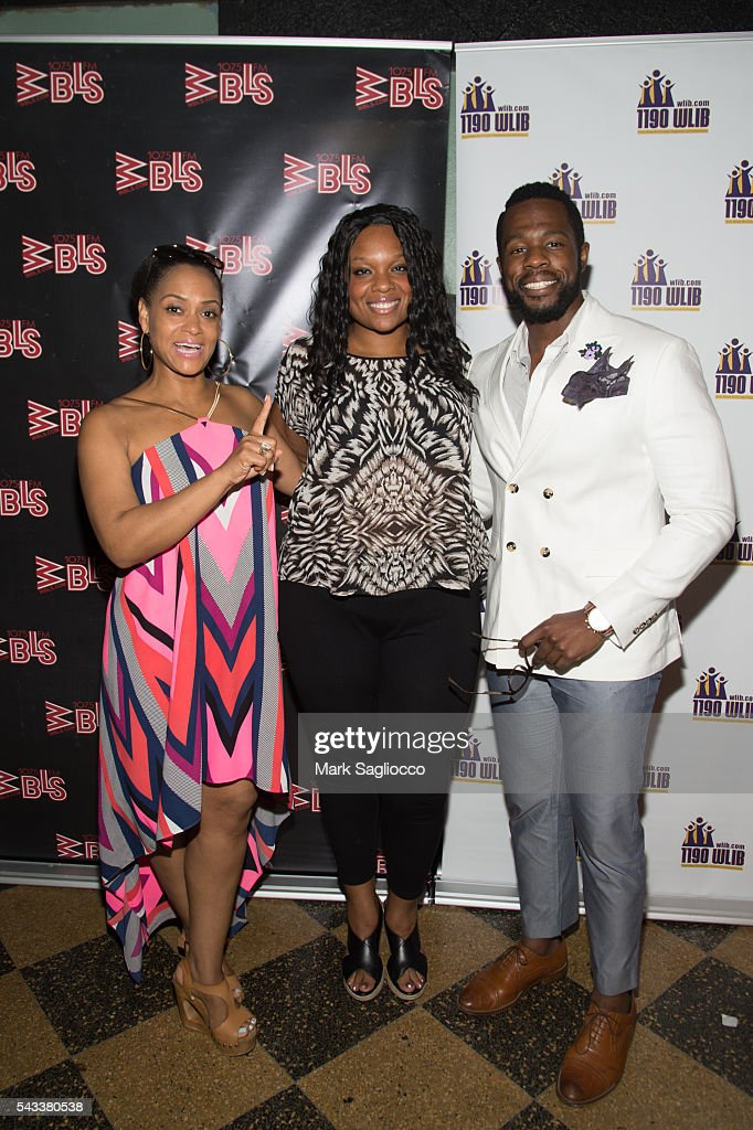Actors <a gi-track='captionPersonalityLinkClicked' href=/galleries/search?phrase=Rema+Webb&family=editorial&specificpeople=6241067 ng-click='$event.stopPropagation()'>Rema Webb</a>, Carrie Compere and Akron Watson attend the WBLS 107.5 & 1190 WLIB Celebration of Black Music Month with Broadway's 'The Color Purple' on June 27, 2016 in New York City.