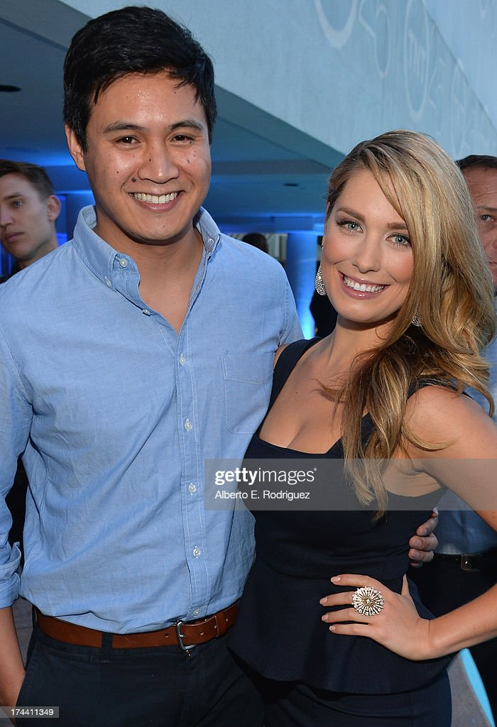 Actors Rene Gube and Briga Heelan attend TNT's 25th Anniversary Party at The Beverly Hilton Hotel on July 24, 2013 in Beverly Hills, California.