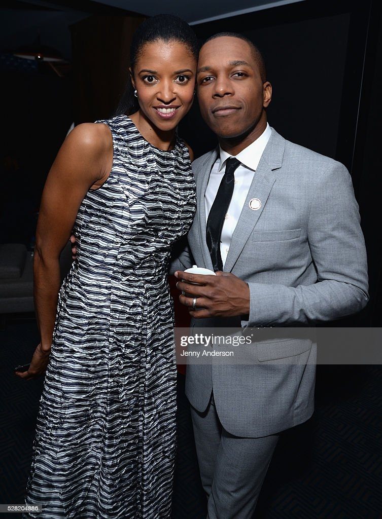 Actors Renee Elise Goldsberry (L) and <a gi-track='captionPersonalityLinkClicked' href=/galleries/search?phrase=Leslie+Odom&family=editorial&specificpeople=9133547 ng-click='$event.stopPropagation()'>Leslie Odom</a> Jr. attend the 2016 Tony Awards Meet The Nominees Press Reception on May 4, 2016 in New York City.