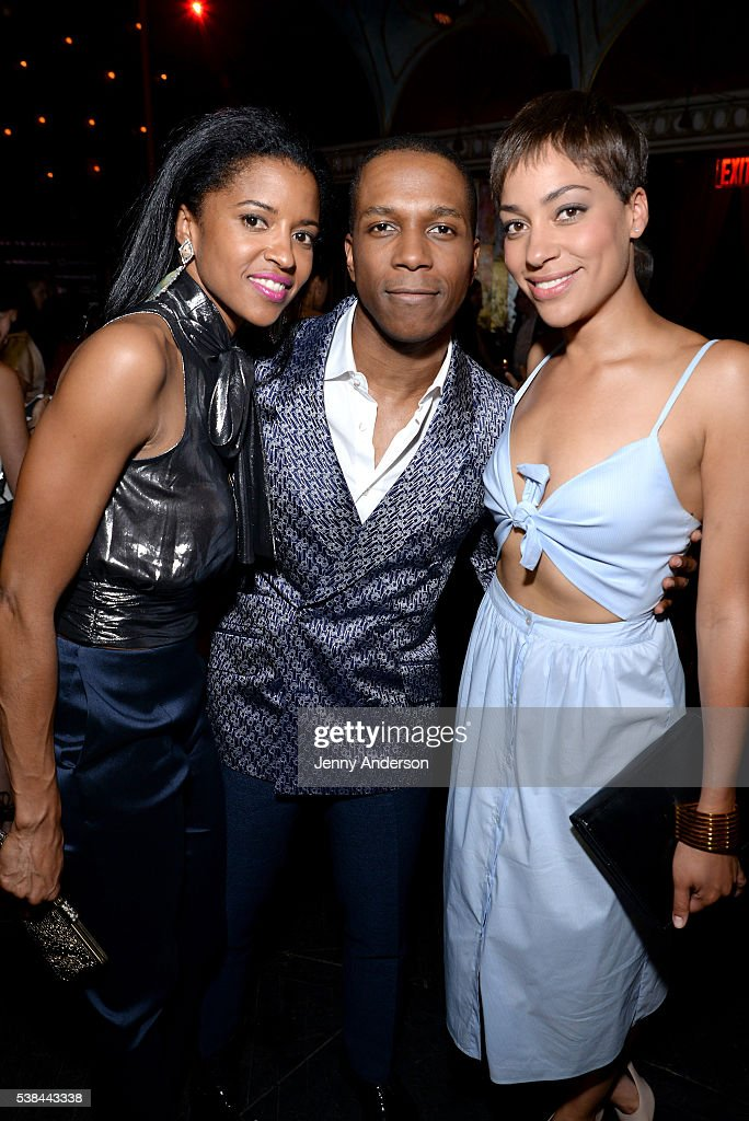 Actors Renee Elise Goldsberry, Leslie Odom, Jr. and Cush Jumbo attend the Tony Honors Cocktail Party presenting the 2016 Tony Honors For Excellence In The Theatre and honoring the 2016 Special Award recipients at Diamond Horseshoe on June 6, 2016 in New York City.