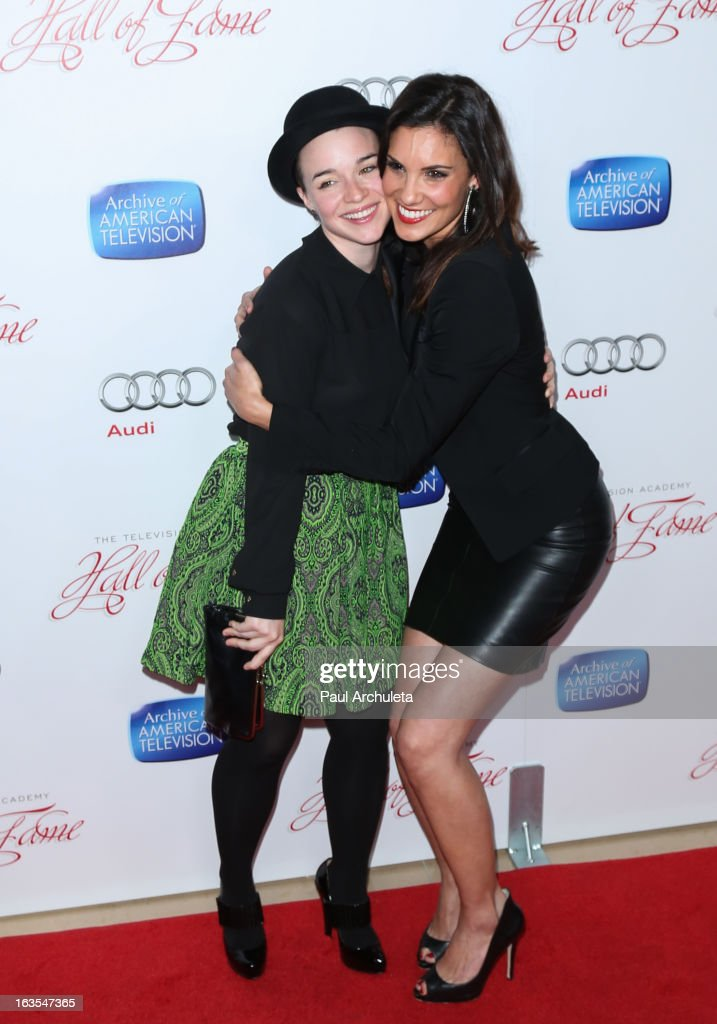 Actors Renee Felice Smith (L) and Daniela Ruah (R) attend the Academy Of Television Arts & Sciences 22nd annual Hall Of Fame induction gala at The Beverly Hilton Hotel on March 11, 2013 in Beverly Hills, California.