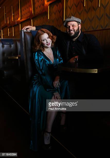Actors Renee Olstead and Daniel Franzese attend the 'Love Lounge' presented by Lambda Legal's Young Leadership Council at Now Boarding Bar on...