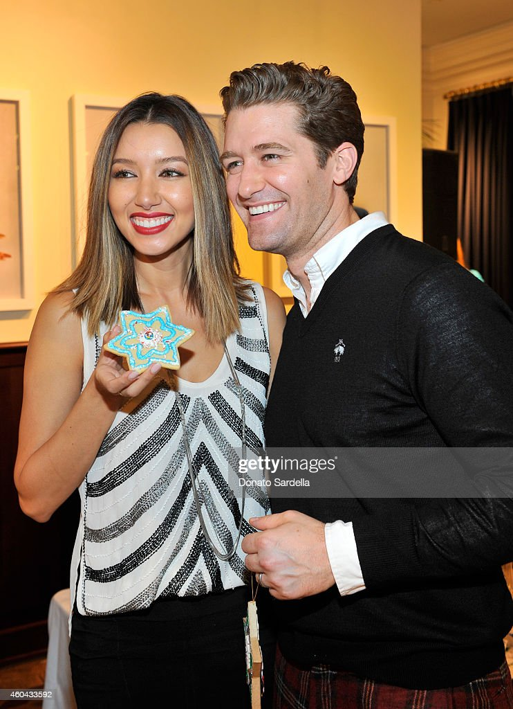 Actors Renee Puente and Matthew Morrison attend as Brooks Brothers celebrates the holidays with St Jude Children's Research Hospital and Town Country...