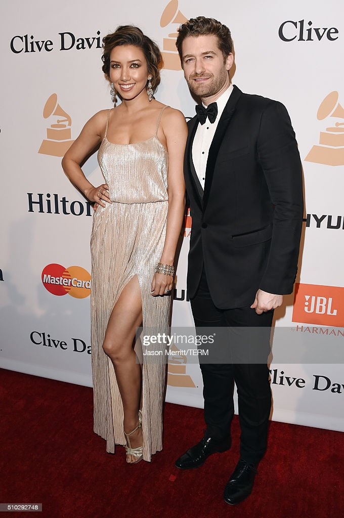 Actors Renee Puente and Matthew Morrison attend the 2016 PreGRAMMY Gala and Salute to Industry Icons honoring Irving Azoff at The Beverly Hilton...